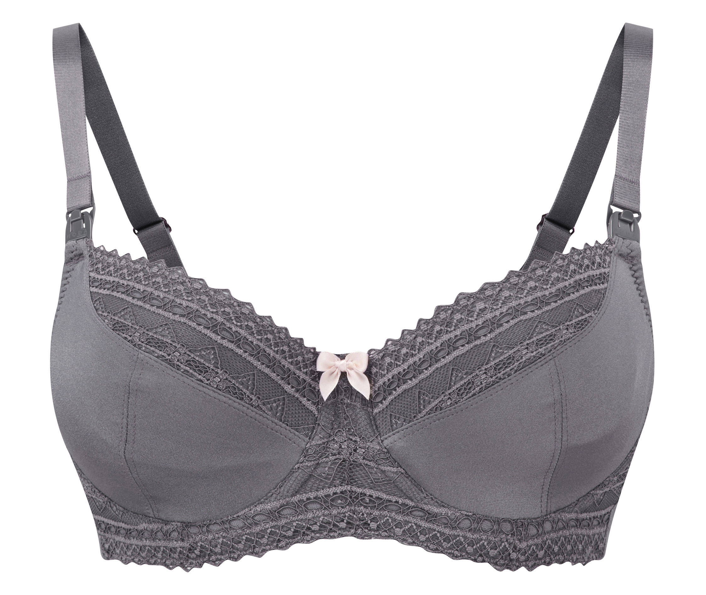 021-AU33-05 | flexi-wire nursing bra | pewter