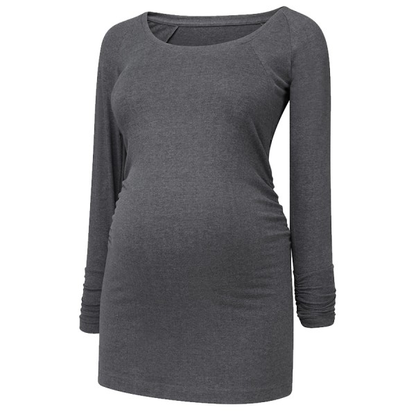 nursing tunic _ charcoal